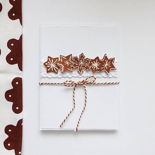 Vianočná pohľadnica, medovníčky