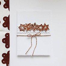 Papiernictvo - Vianočná pohľadnica, medovníčky - 11225534_