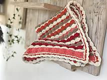 Textil - Dečka pestro farebná - 11222958_
