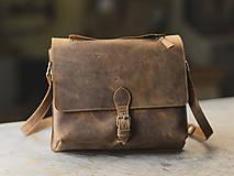 Na tablet - Kožená taška  formát A4 - 11227076_