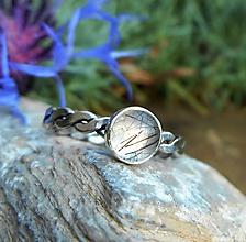 Prstene - Strieborný Prsteň s Rutilovým Krištáľom - 11225778_