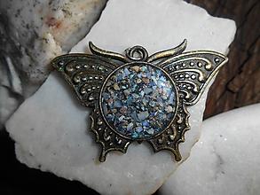 Náhrdelníky - butterfly..with opals-zľava:9,50E!! - 11225295_
