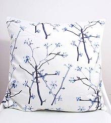 Úžitkový textil - FLORAL akvarelová obliečka - Kvitnúce halúzky - 11225552_