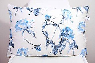 Úžitkový textil - FLORAL akvarelová obliečka - Pivónia II. - 11225584_