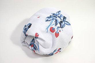Textil - FRUITS gázovinová prikrývka Jahody - 11225700_