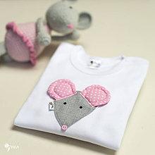 Detské oblečenie - body MYŠKA (dlhý/krátky rukáv) - 11225913_