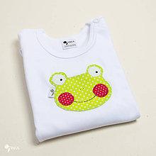 Detské oblečenie - body ŽABKA (dlhý/krátky rukáv) - 11226792_
