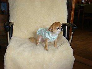 Pre zvieratá - Ručne pletený svetrík pre psíka - 11225111_