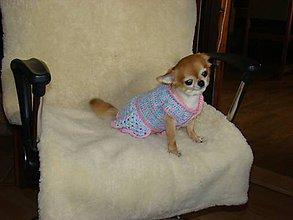 Pre zvieratká - Ručne háčkované šaty pre psíka - 11226032_