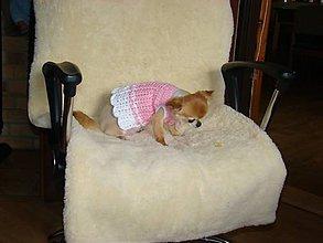 Pre zvieratká - Ručne háčkované šatôčky pre psíka - 11226151_