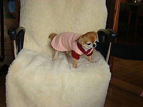 Pre zvieratká - Ručne háčkovaný svetrík pre psíka - 11226380_