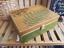 Krabičky - Drevená krabička - 11224941_