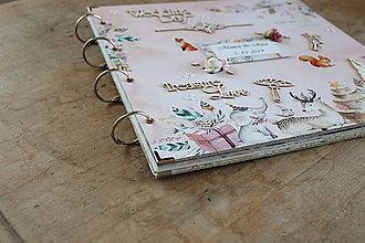 Papiernictvo - Rozprávkový lesný svadobný fotoalbum - 11223303_