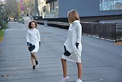 """Detské oblečenie - Teplákové šaty/tunika """"mama a dcéra"""" Glace - 11223640_"""