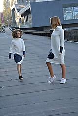 """Detské oblečenie - Teplákové šaty/tunika """"mama a dcéra"""" Glace - 11223641_"""