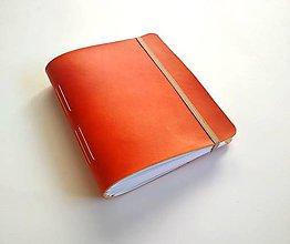 """Papiernictvo - Kožený fotoalbum A5 ,,Autumn mood"""" oranžový - 11225696_"""