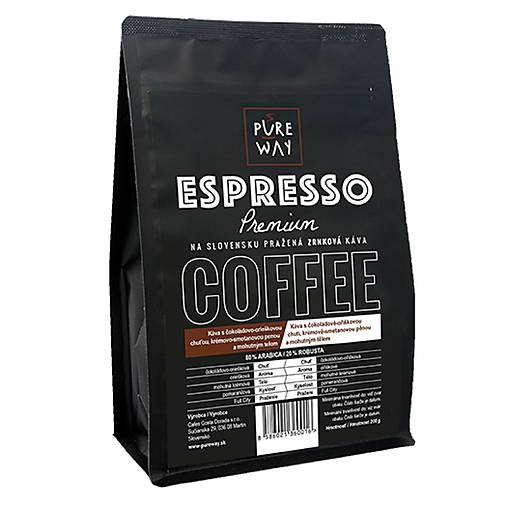 Espresso zrnkova káva Pure Way 200 g PREMIUM