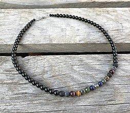 Šperky - Pánsky náhrdelník - mix minerálov - 11222892_