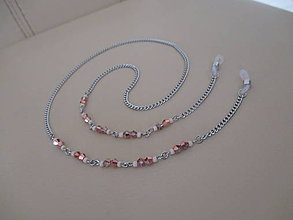 Iné šperky - Retiazka na okuliare - marhuľové odtiene - chirurgická oceľ - 11223560_