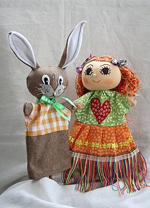 Hračky - Maňuška. Víla Dúhenka s kamarátom zajkom Hopim - 11224988_