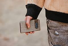 Na mobil - Knižkové puzdro  béžové FELT - 11223833_