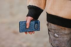 Na mobil - Knižkové puzdro modré FELT - 11223846_