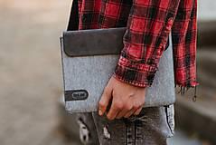 Na tablet - Tabletové plstené púzdro sivé FELT - 11223851_