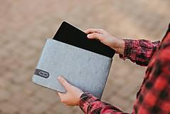 Na tablet - Tabletové plstené púzdro sivé FELT - 11223852_