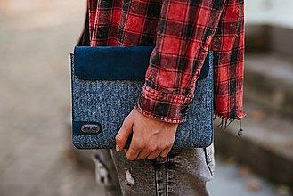 Na tablet - Tabletové plstené púzdro modré FELT - 11223951_