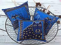 Dekorácie - Mačičkové vankúšiky s levanduľou - 11226426_