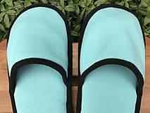 Obuv - Veľké tyrkysové papuče - 11222983_