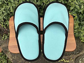 Obuv - Veľké tyrkysové papuče  - 11222982_