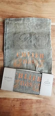 Úžitkový textil - ChleBag - Ľanové voskované vrecko na chlieb/pečivo (Oranžová) - 11225906_