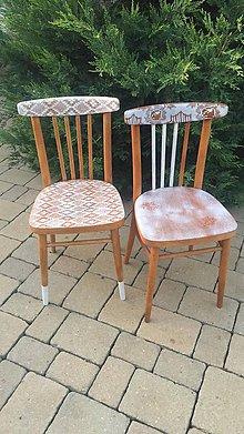 Nábytok - Dve vintage thon stoličky - 11226669_