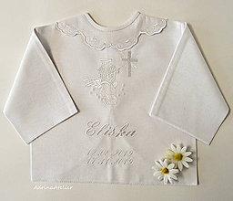 Detské oblečenie - košielka na krst-vyšívaná - 11226841_