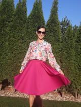 Sukne - Cyklaménová kruhová sukňa - 11223786_