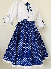Šaty - Folklórny komplet so zavinovacou sukňou - 11224544_