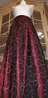 Sukne - Dlhá taftová sukňa - 11226132_