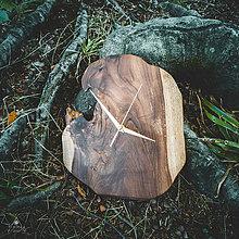 Hodiny - RAW - Teakové drevené hodiny - 11223720_