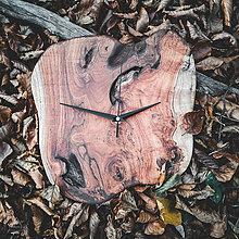 Hodiny - RAW - Teakové drevené hodiny - 11223782_