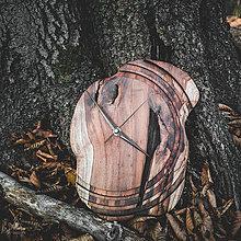 Hodiny - Artefakt - Teakové drevené hodiny - 11223821_