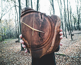 Hodiny - Artefakt - Teakové drevené hodiny - 11223838_