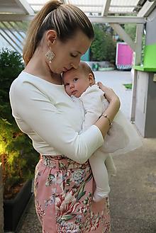 Tehotenské/Na dojčenie - Elegantné tričko na dojčenie - 11226594_
