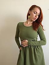 Šaty - Šaty na dojčenie- strih Eva- TEPLÁKOVÉ - 11222901_
