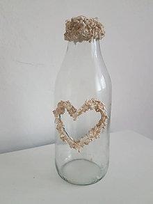 Dekorácie - váza s kamienkami - 11226136_