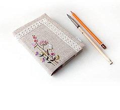 Papiernictvo - Zápisník Fialové kvietky - A6 - 11222937_
