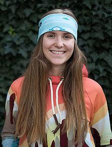 Ozdoby do vlasov - AZTEC BLUE WINTER  - termo čelenka - 11227215_