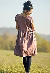 Šaty - Lněné šaty zavinovací Roses séchées - 11224445_