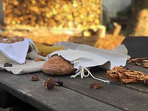 Úžitkový textil - Vrecúško na chlieb s tvarovaným dnom - 11226466_