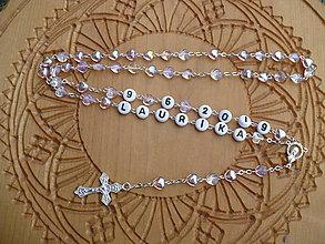 Iné šperky - ruženec s menom a dátumom narodenia - 11222931_